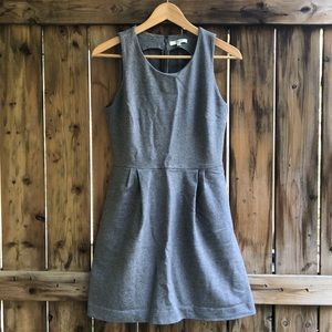 MADEWELL small gray verse dress with pockets